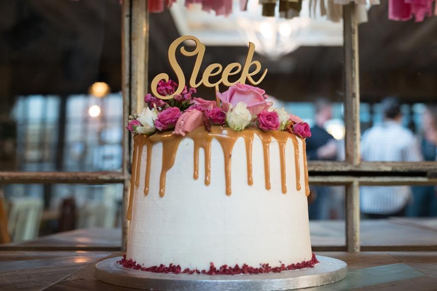 Sleek Events' celebration cake