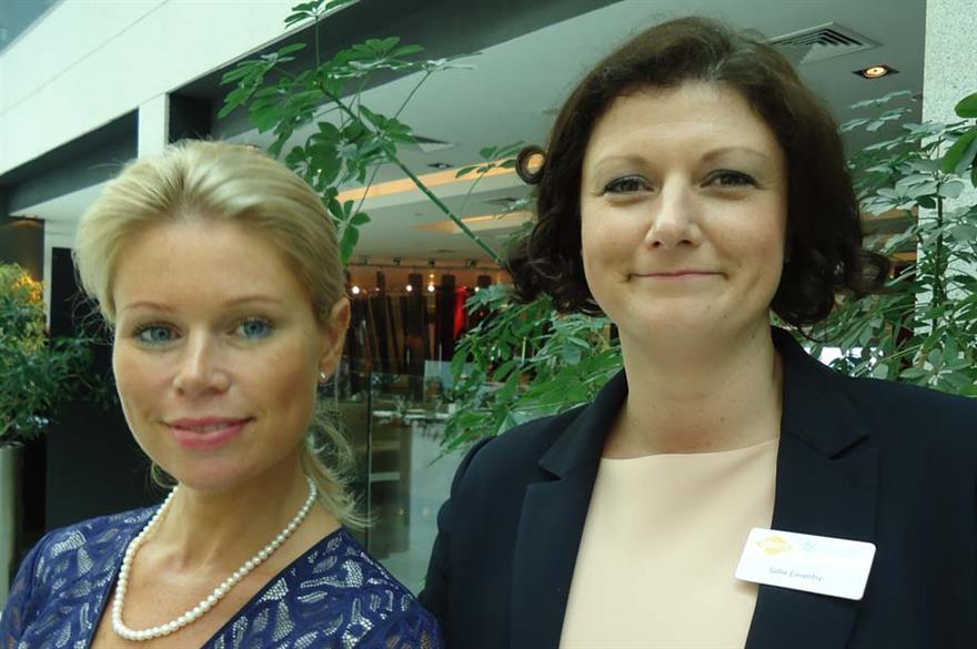 GIBTM's Lois Hall and Sallie Coventry