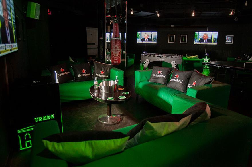Heineken Box at Amber Bar, City of London