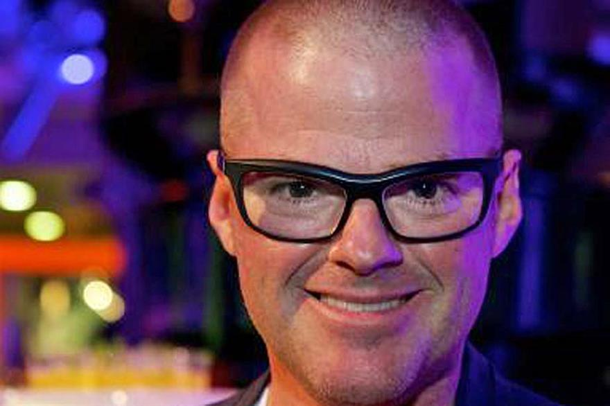 Chef Heston Blumenthal works with events caterer Rhubarb