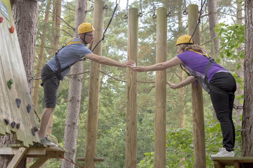 Teambuilding at the Hitachi conference