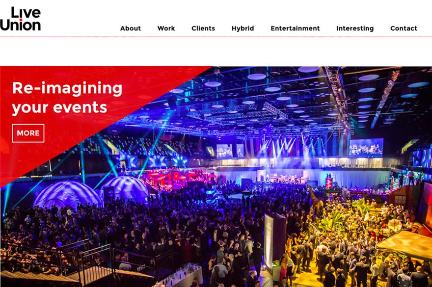 Live Union's new website