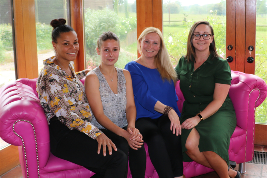 New starters: Cherie Josephs, Beth Davies, Charlotte Gough and Therese Dolan.