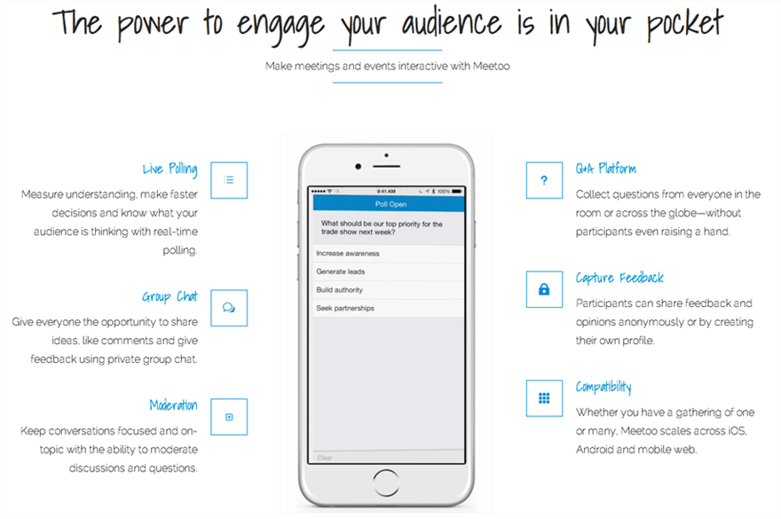 Lumi has launched new live polling and messaging app Meetoo