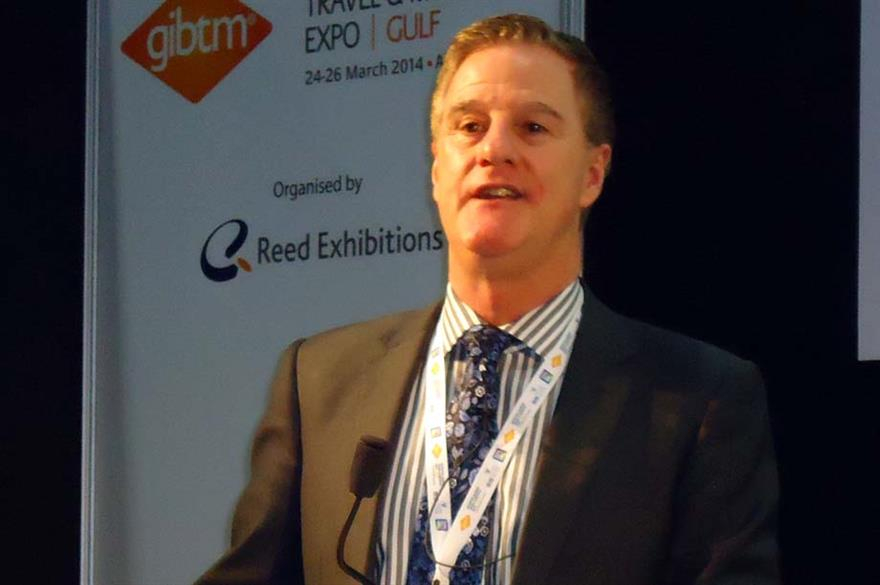 Rob Davidson, senior lecturer of events management at the University of Greenwich in London, speaking at GIBTM 2014