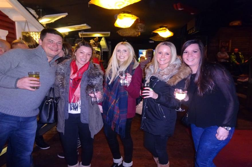 Event planners enjoy an evening out in Levi