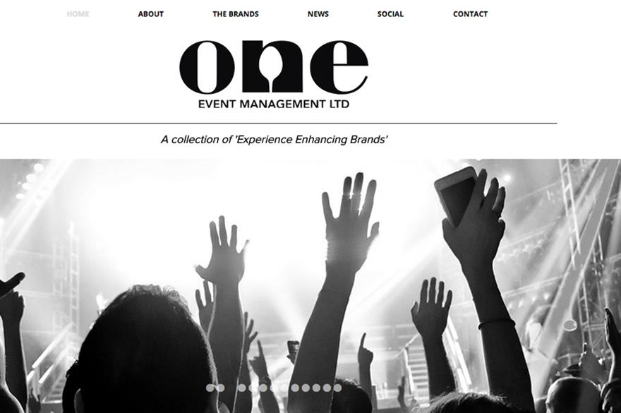 One Event Management website