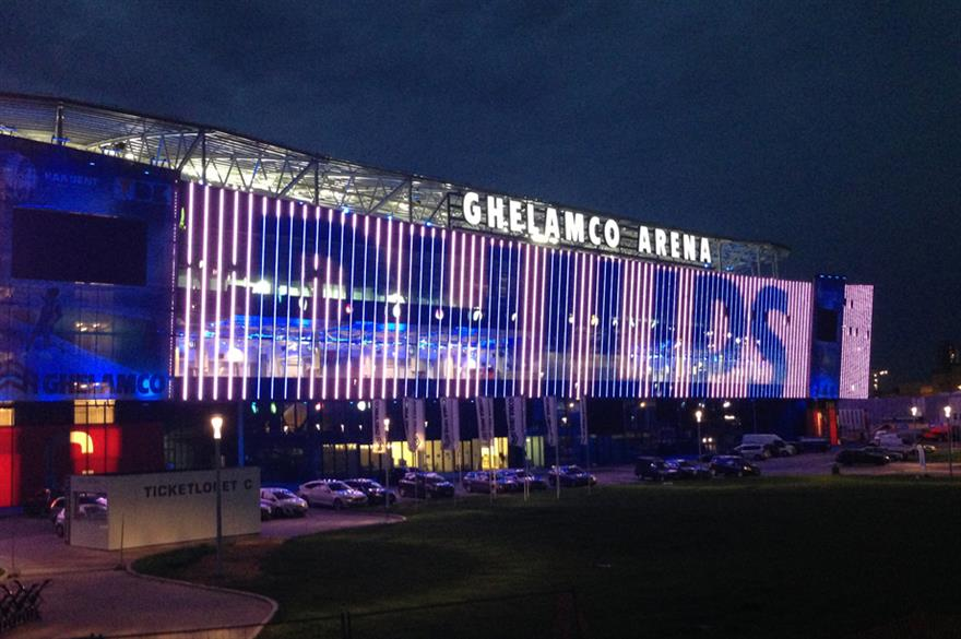Philips worked with Lodestar at the Ghelamco Arena