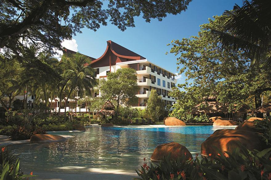 The lagoon-style pool at Rasa Sayang Resort & Spa