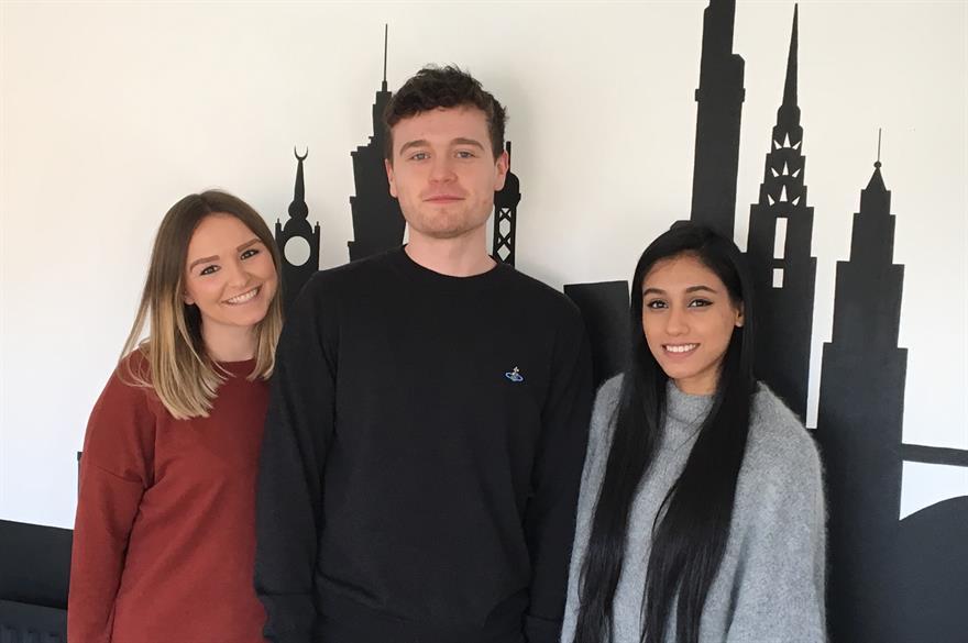 Gemma Price, Aidan McSorley and Serena Panchal