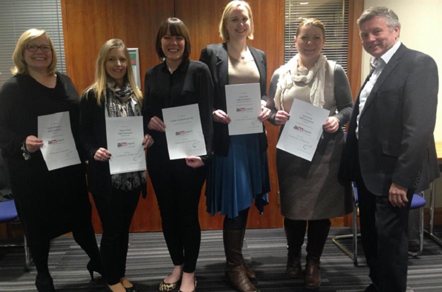 L-R: Kathie McGuire, director of procurement, Inntel;  Helen Cook, account manager, Planet Venues; Anna Houghton, MICE head of conference Calder Conferences; Lucy Hay, event manager, Absolute Corporate Events; Jenny Lee, meetings and e