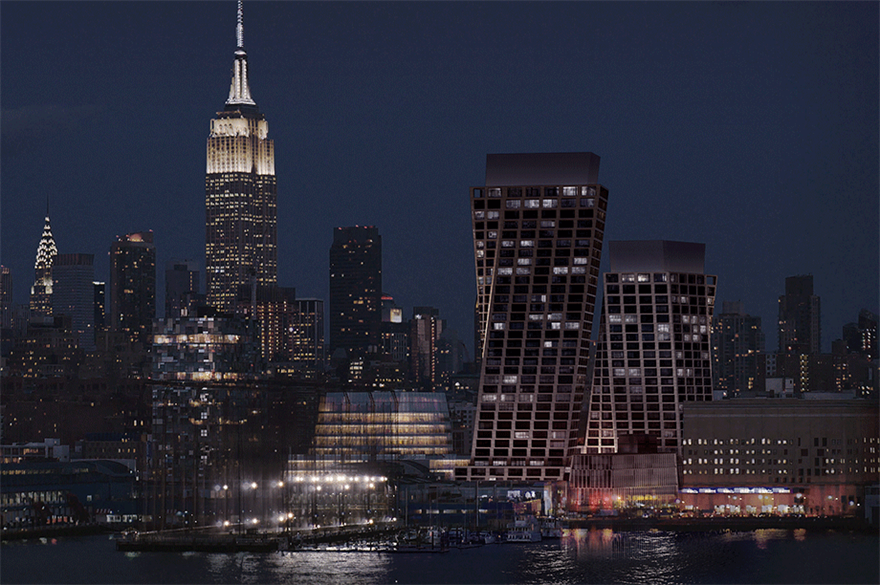 The twisting towers of Six Senses New York