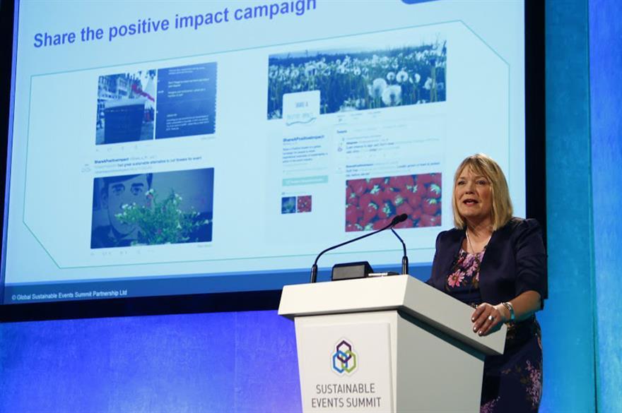 Nadine Dezera kicks of the Sustainable Events Summit
