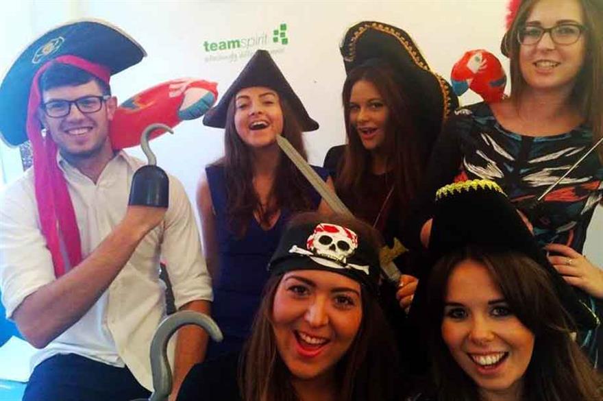 Team Spirit enjoying some pirate-themed fancy dress