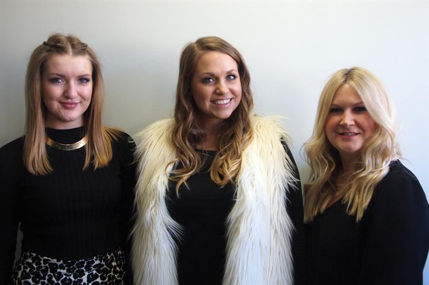 L to R: The Appointment Group's Jasmine Storr, Bethany Chamberlain and Clare McNulty