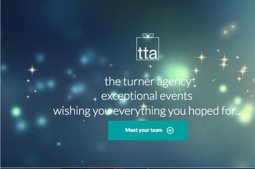 The Turner Agency website