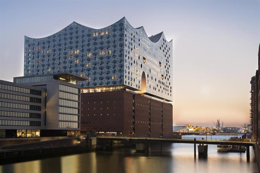 The new Westin Hotel in Hamburg