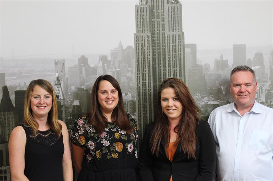Left to right: Nikki Symons, Natalie Antonopoulos, Brooke Dawson, Mike Hamilton