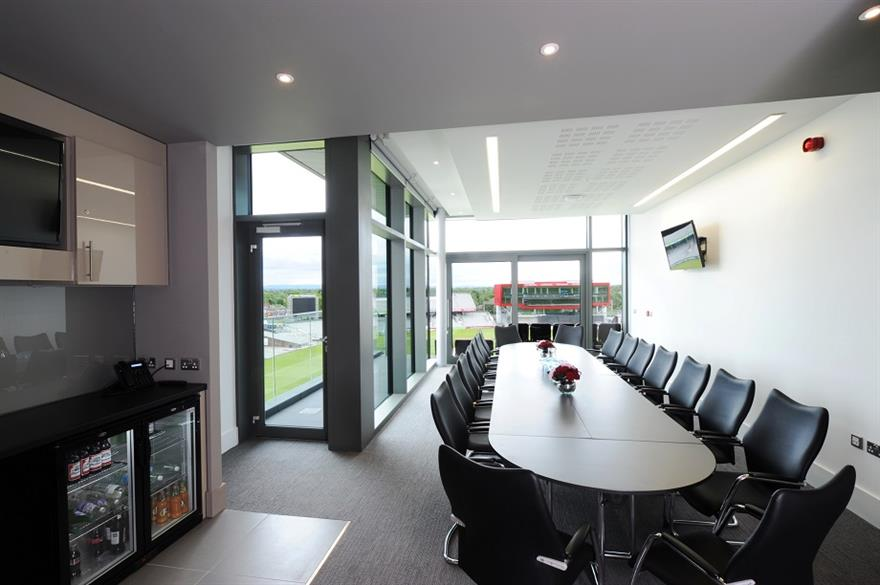 One of the Pavilion suites at Emirates Old Trafford