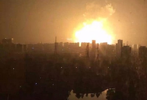 The Tianjin explosion. Credit: Eristic-霖璟