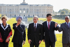Leaders smile for the cameras at the previous BRICS summit in 2013