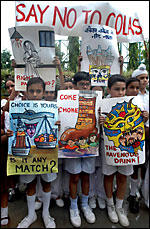 Indian cola protest