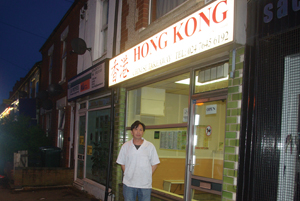 Takeaway owner Stephen Chung