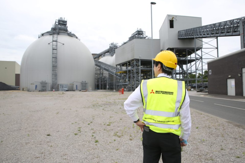 Drax trialled Mitsubishi's carbon capture technology last year and is now set to implement it at full scale. Photograph: Drax Group