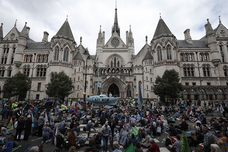 Last year Extinction Rebellion demanded a citizens assembly on climate change be created. Photograph: Dan Kitwood/Getty Images