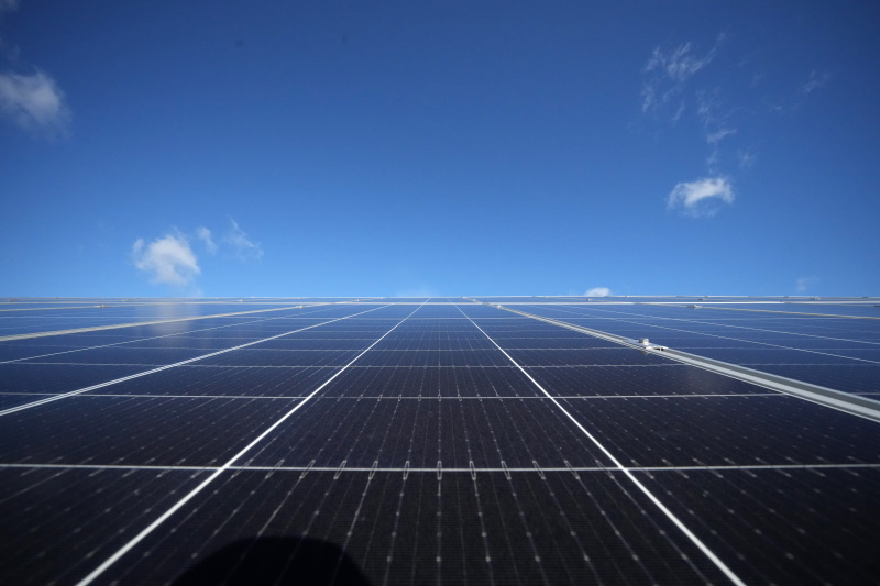 One of the UK's largest solar farms is operated by the Army. Photograph: Christopher Furlong/Getty Images