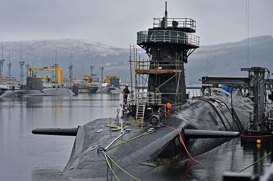 """The Royal Navy said there had been a """"higher than usual level of chlorination"""" in 2019. Photograph: Jeff J Mitchell/Getty Images"""