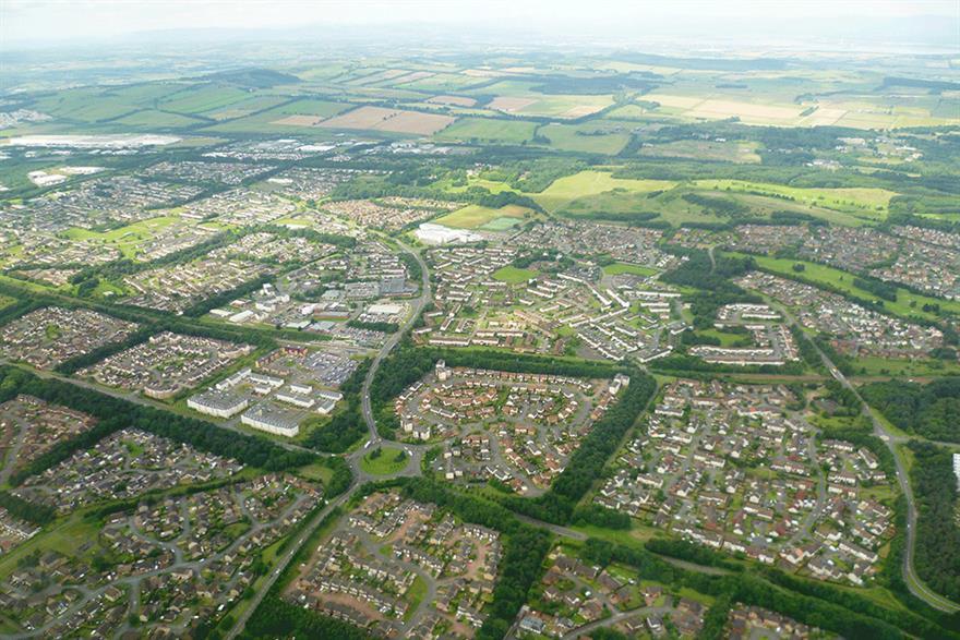 Livingston in West Lothian. Photograph: Kim Traynor/Wikimedia