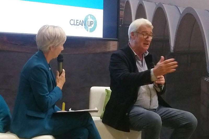Clean Up Britain patron Jeremy Paxman speaking at the RWM conference. Photograph: Gareth Simkins