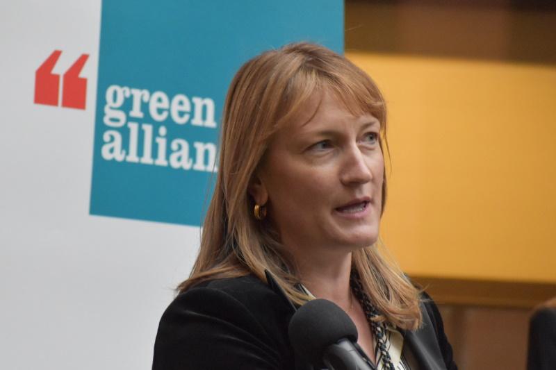 Allegra Stratton spoke at the Green Alliance's annual reception last night. Photograph: Gareth Simkins
