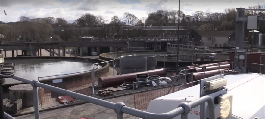 Kendal wastewater treatment works. Image: United Utilities