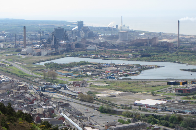 """The government will """"consider the implications"""" for a net-zero Port Talbot steelworks. Photograph: Gareth James / Geograph"""