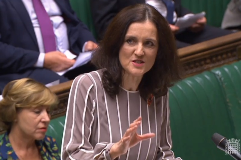 Environment secretary Theresa Villiers and DEFRA minister Rebecca Pow presented the Environment Bill in parliament yesterday. Photograph: Parliament