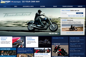 Triumph Motorcycles UK marketing manager Andrea Friggi on the Canary Islands