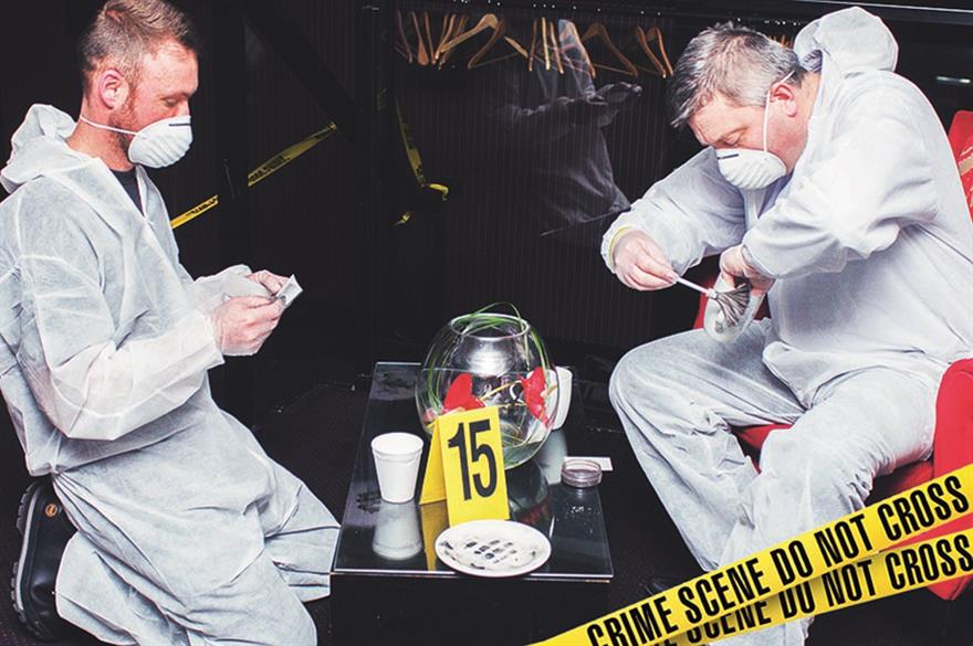 Shop Direct's The Killing - A Criminal Investigation teambuilding event