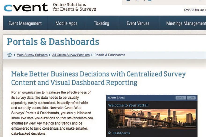 Cvent's Portals and Dashboards