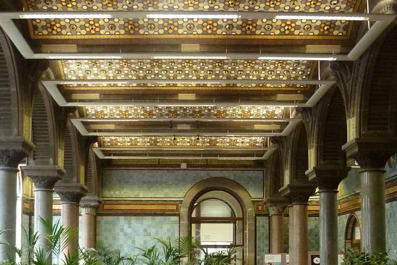 The Tiled Hall at Leeds City Art Gallery was selected by Gordons