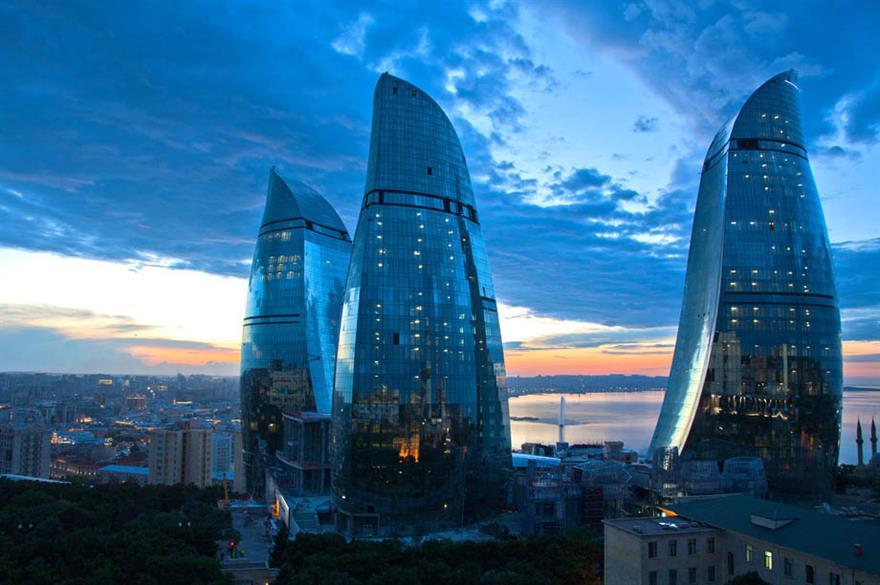Flame Towers Complex, Baku, Azerbaijan