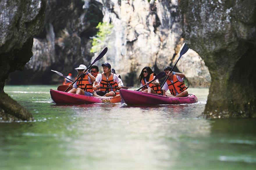 Canoeing in Krabi, Thailand