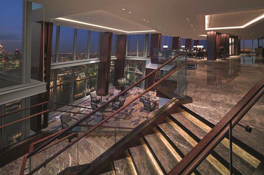 Events lobby, Shangri-La at The Shard, London
