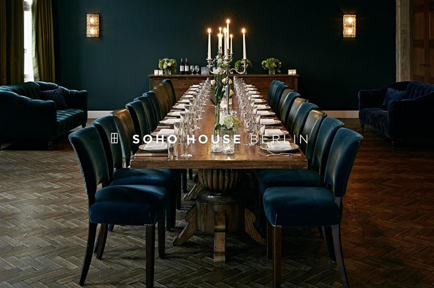 Exclusive dining at Soho House Berlin
