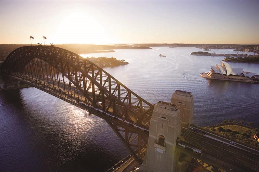 Gartner's Sydney incentive involved a climb to the top of Sydney Harbour Bridge