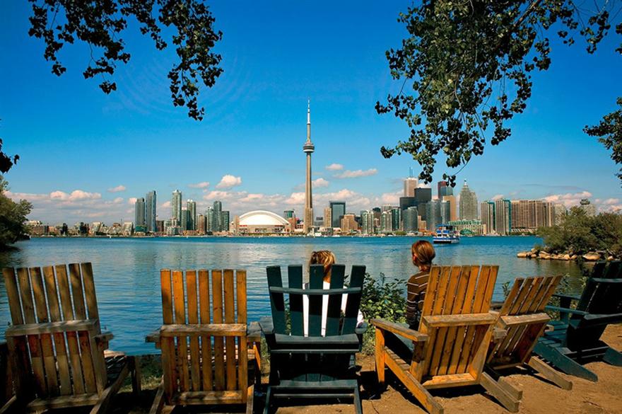 Skyline view from Toronto Islands
