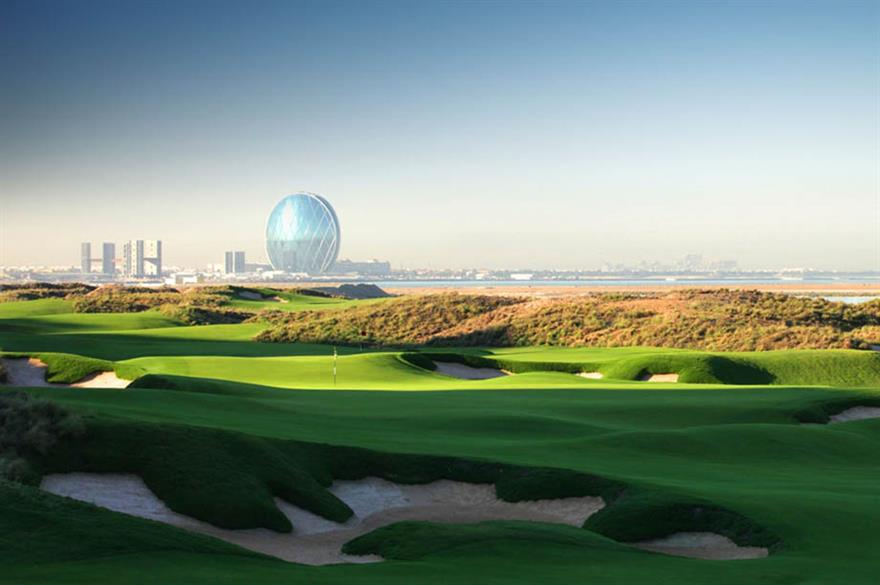 Yas Links golf course, Abu Dhabi