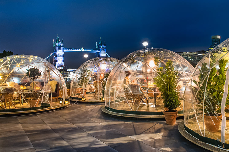 Coppa Club's winter igloos