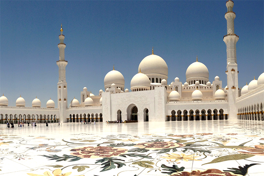 Abu Dhabi... for the large-scale reward and recognition trip